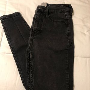 High Waisted Black Free People Jeans